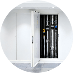 """<img src=""""https://selo.global/wp-content/uploads/2021/06/Bi-directionally-Fire-Tested-WHITE.png"""" alt=""""Bi-directional Tested""""<br /> Metal Riser Door Systems"""