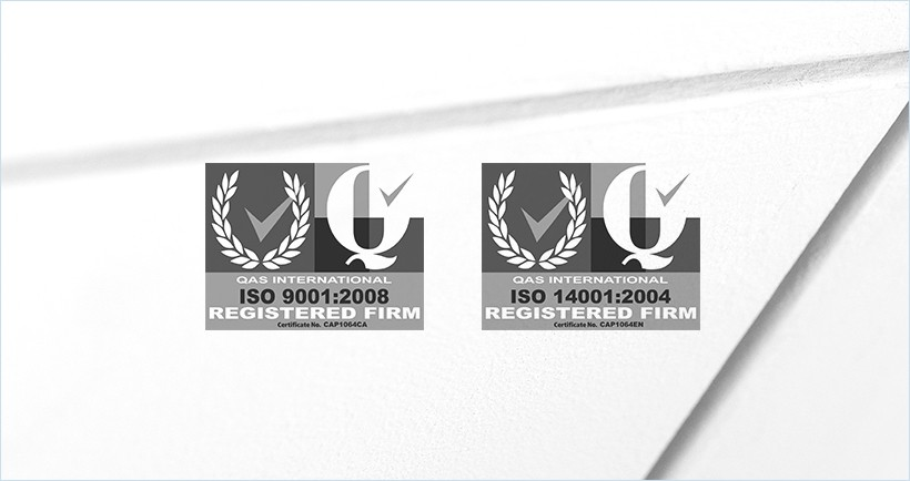 ISO 9001 and ISO 14000 certified - read more