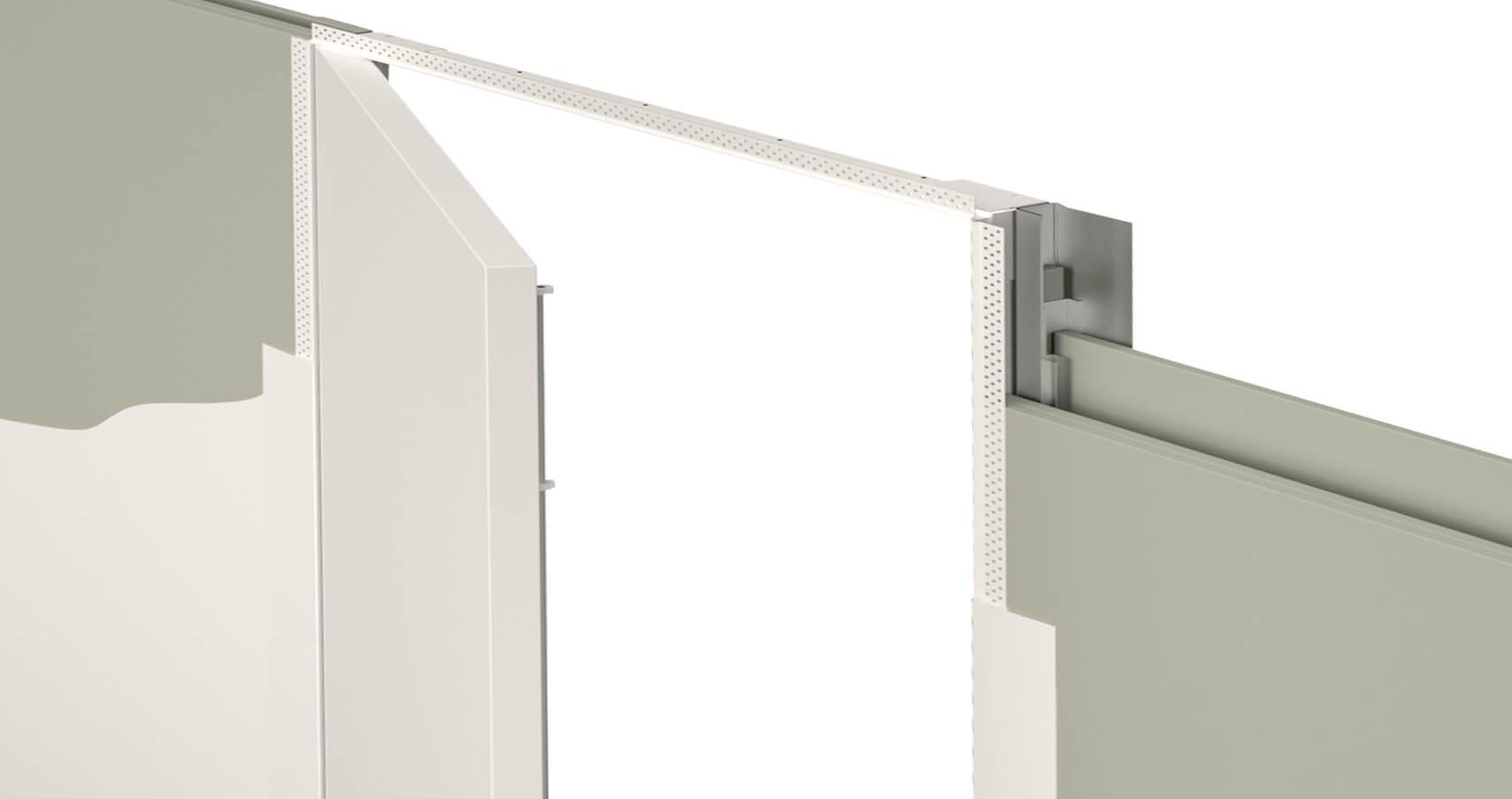 Quadra Pre Hung Concealed Jib Riser Door System Selo