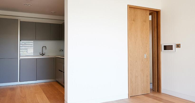 Door Shadow Gap Amp Grey Door With Aluminium Frame And