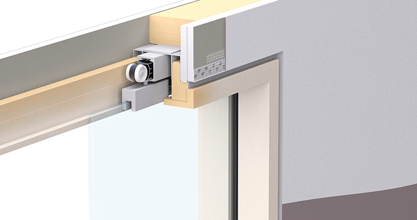 Enigma Glass Leaf Shadow Gap Frame Pocket Door System Selo