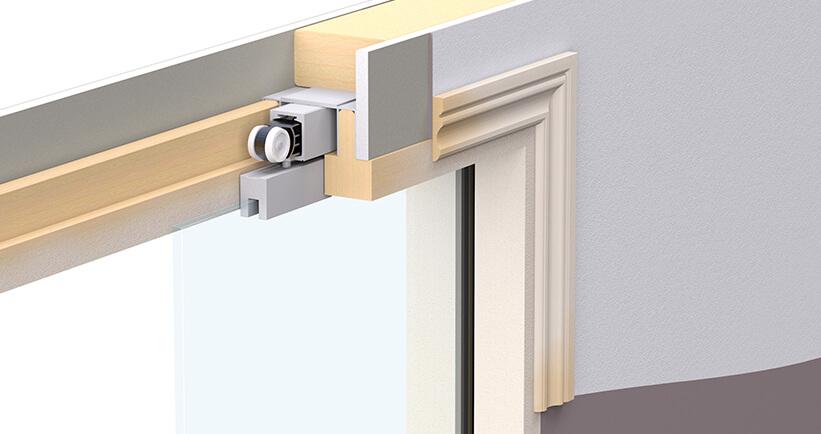 Enigma Visible Frame Glass Pocket Door Sliding Glass Pocket Door