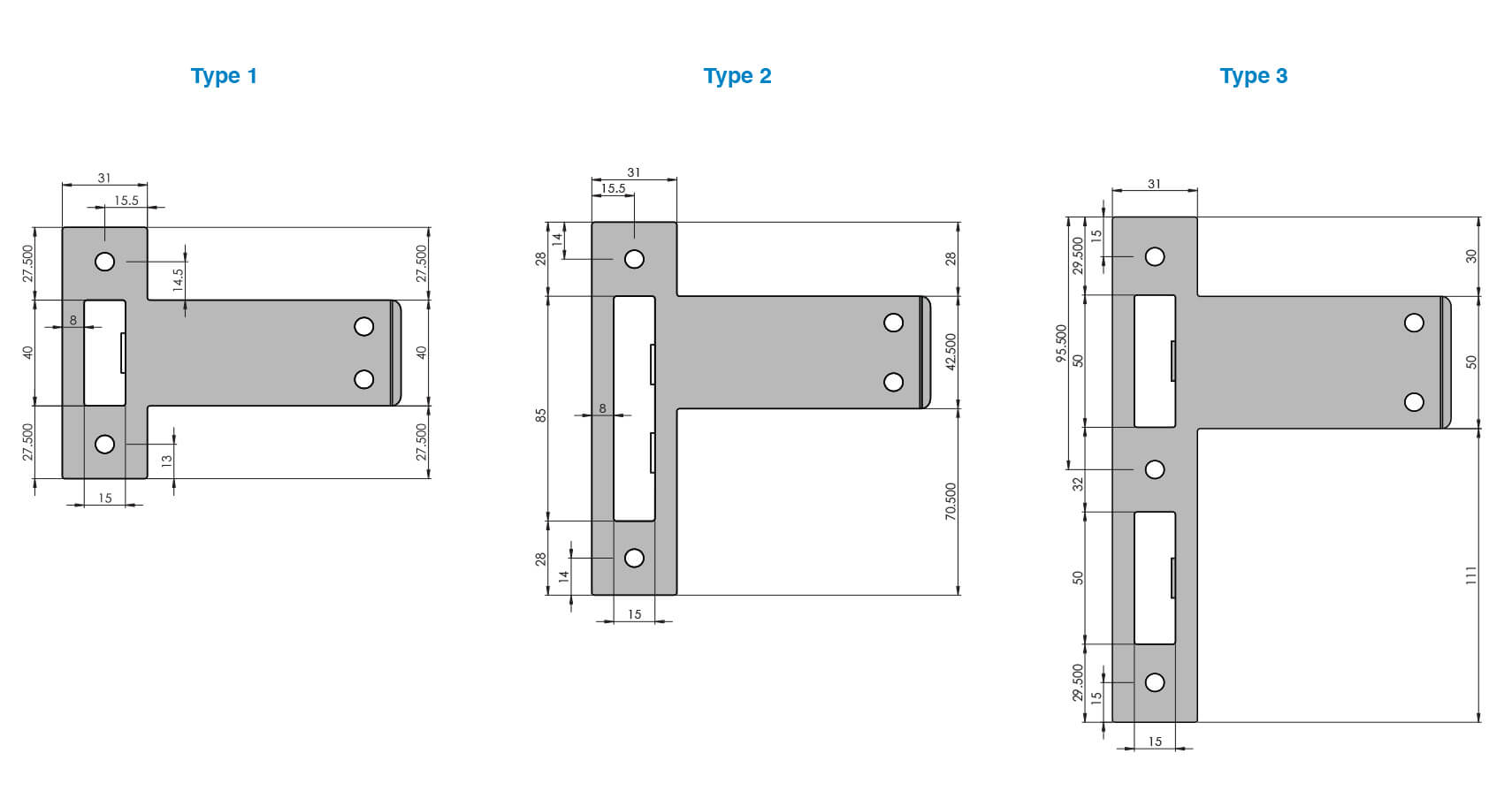 Latch plate types (1 of 2)