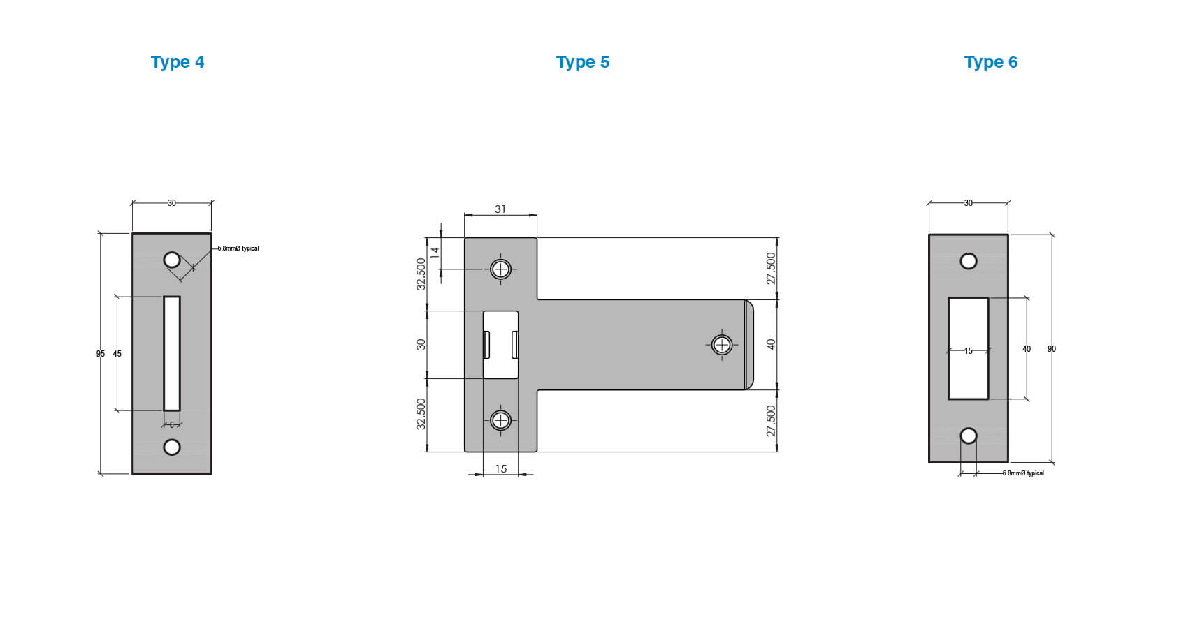 Latch plate types (2 of 2)