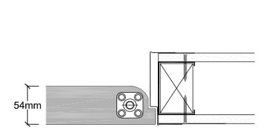 <b>Steel stud partition</b><br>› A timber insert is required in the steel stud