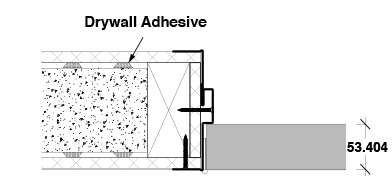 <b>Butt hinge</b><br>› Single timber stud<br>› Single skin plasterboard