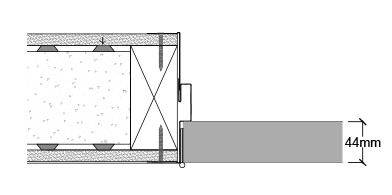 When using the Arriva system on a masonry wall a timber frame is required in the opening which is then overclad with plasterboard and the frame can be fitted in the normal fashion.