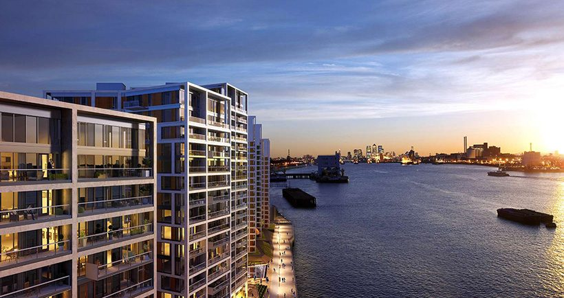 London's stunning new water-front development - read more