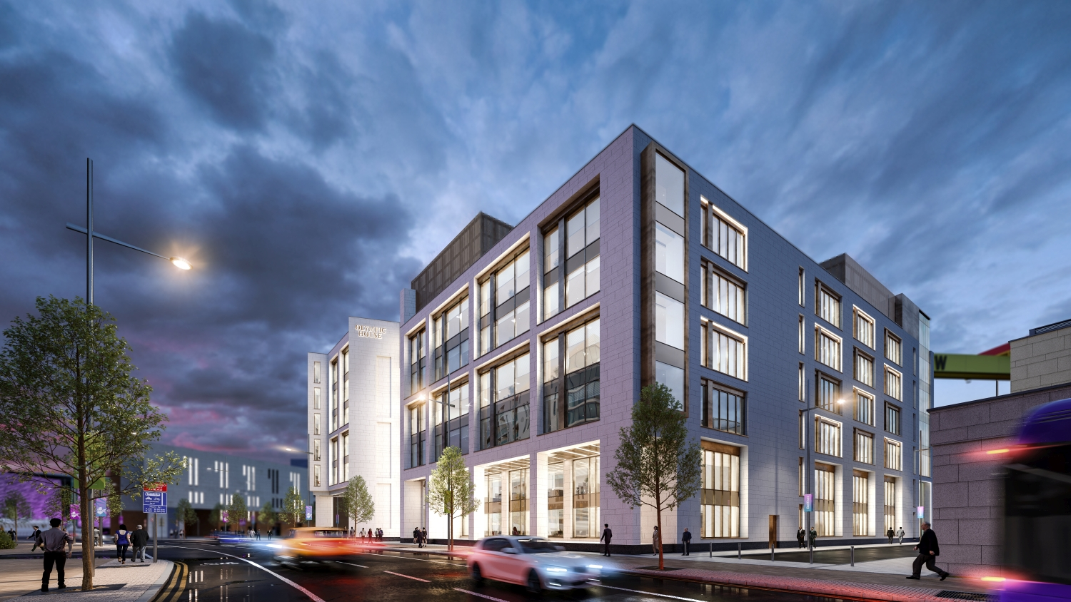 The Olympic House - £30m development, will comprise two linked blocks of six and seven storeys in total of 150,000 sq ft of Grade A office space including a feature atrium. The development also includes a basement car park.